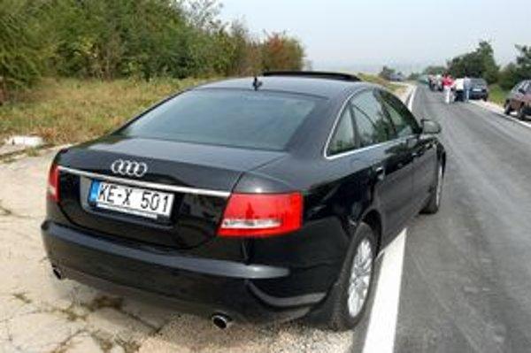 Audi košického župana Zdenka Trebuľu.