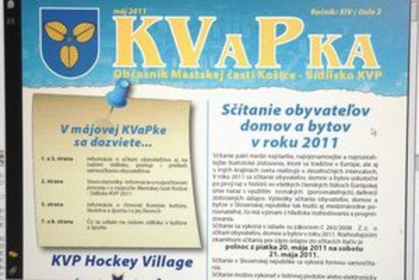 Zmena sa nekonala. Periodiku Kvapka, ktoré vychádza v mestskej časti KVP, chce skupina poslancov zmeniť pravidlá.