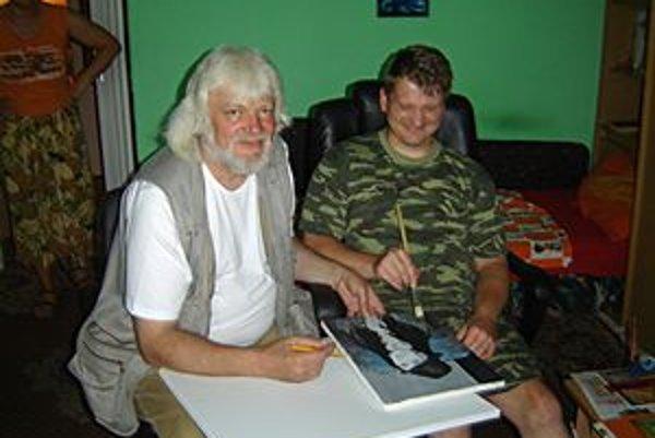 Pracovné stretnutie. Na snímke Miroslav Mižák (vľavo) a Marián Slunečka.