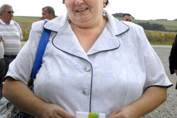 Monika Puzderová. Starostka Šebastoviec svoj post obhájila.