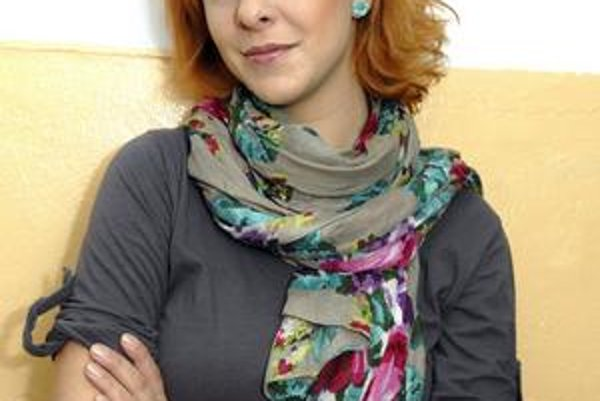 Herečka Kristína Farkašová.