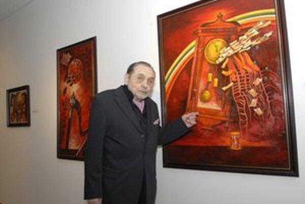 Majster Tibor Gáll. Verí, že sa aktuálna výstava jeho diel bude páčiť.