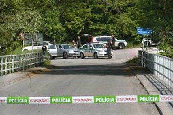 Miesto činu pri Kysaku, kde páchateľ postrelil policajta.
