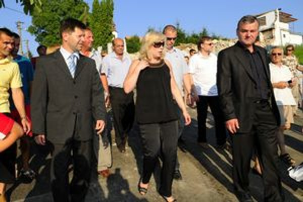 Iveta Radičová navštívila minulý týždeň aj Nižnú Myšľu.
