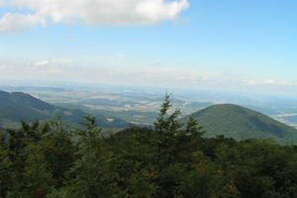 Pohľad z vrcholu Šimonky.
