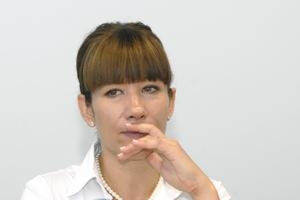 Lucia Nicholsonová (SaS). Po skončení funkčného obdobia by chcela dlhodobo nezamestnaných vidieť ako zamestnaných.