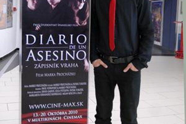 Marko Procházka. Tretiak na Gymnáziu Park mládeže natočil prvý študentský film v španielčine.
