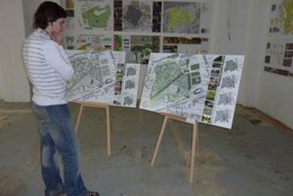 Výstava víťazných návrhov na premenu mestského parku.