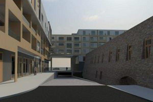 Mlynská bašta v roku 2013? Zatiaľ pracovná verzia vizualizácie rezidenčného komplexu.