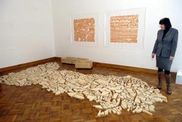 Umenie ako hra. Výtvarníčka Armelle Caronová ponúka svoju tvorbu vo Východoslovenskej galérii.