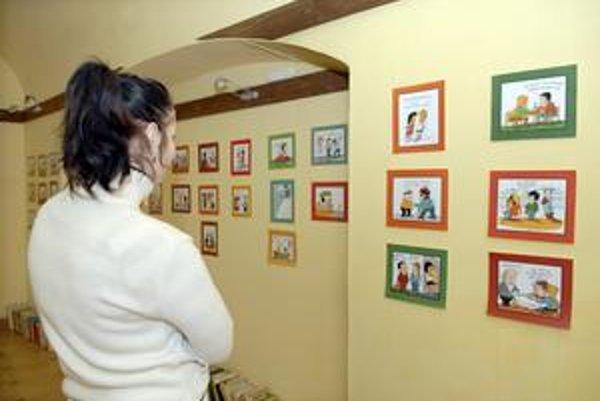 Vyše 100 kreslených vtipov spolu s karikatúrami Jozef Jurko vystavuje v galérii Pekárnička.