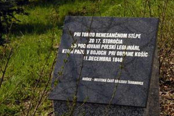 Poľský pamätník. V nedeľu si tu Košičania uctia obete leteckého nešťastia.