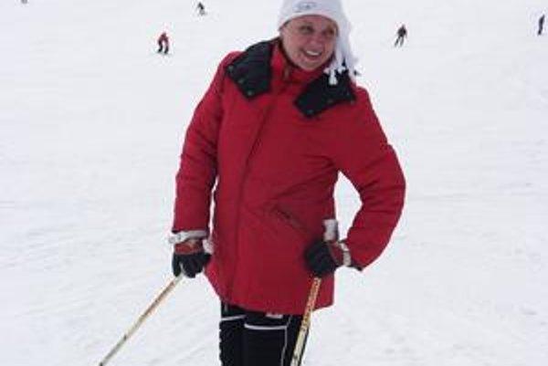 Jarmila Tkáčová, jej vlaňajšia zimná dovolenka na horách.