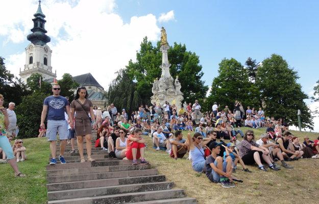 Pribinova Nitrawa v podhradí pritiahla množstvo návštevníkov.