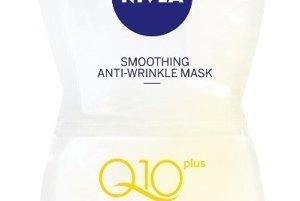 Vyhladzujúca maska proti vráskam s vysokou koncentráciou koenzýmu Q10 plus dodáva pleti energiu a neutralizuje toxické volné radikály, Nivea, 1,51 €