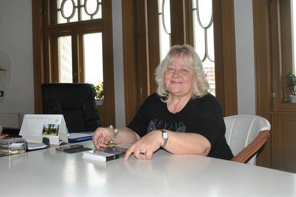 Marta Skalková. Riaditeľka Knižnice P. O. Hviezdoslava.