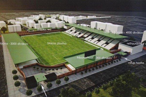 Vizualizácia nového štadióna Tatrana.
