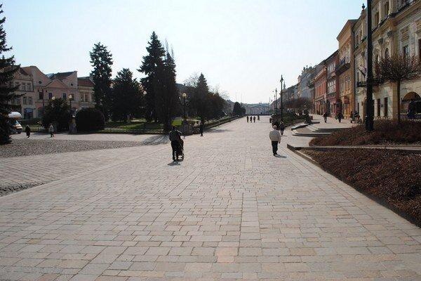Centrum Prešova bez terás. V posledných rokoch ich býva podstatne menej.