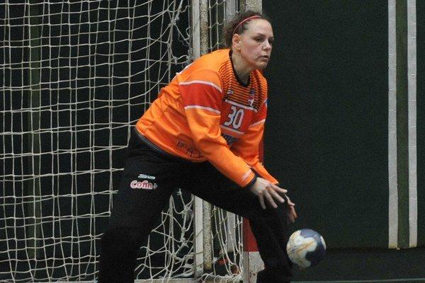 Katarína Bernátová. V zápase so Zlínom bola najlepšou Prešovčankou.