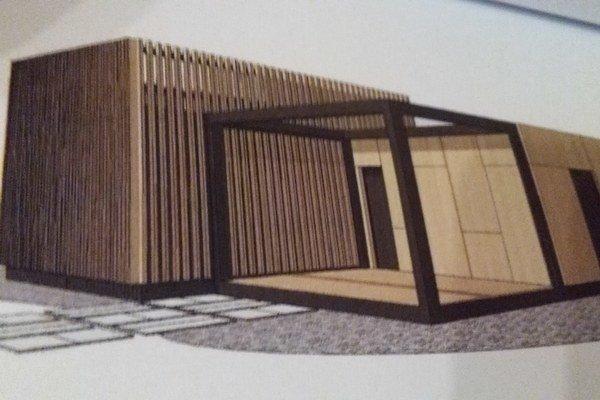 Knižnica bookBox. Podľa vizualizácie architektov Almássyho aČečetku.