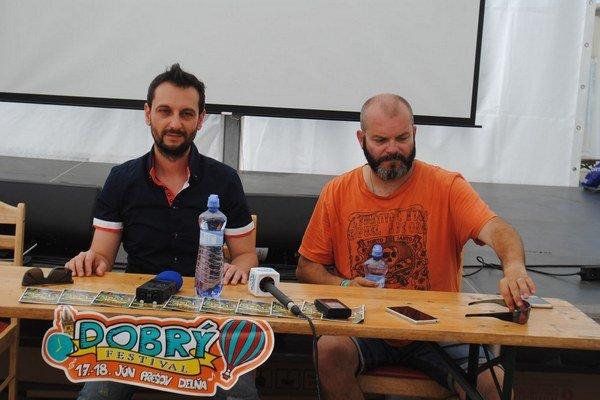 Festivalová tlačovka. Informujú Miro Tásler a Richard Hympán.