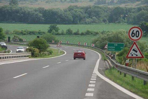 Diaľnica D1 Košice - Prešov.