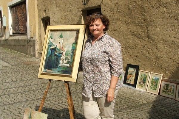 Margita Rešovská na prešovskom Montmartri.