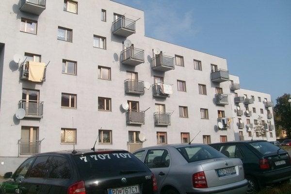 Sabinovská ulica. Tu boli odovzdané nájomné byty v roku 2007.