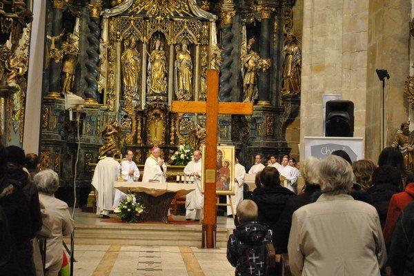 Kríž mladých. Zotrval v Prešove dva dni.