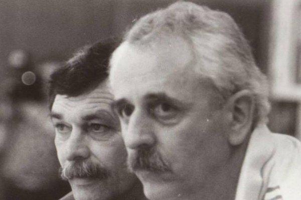 Martin Gregor (vpravo) na lavičke s Vincentom Lafkom.