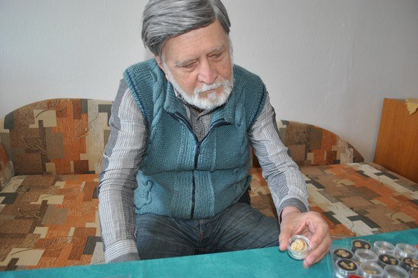 Prešovský zlatokop Ladislav Sedlák.