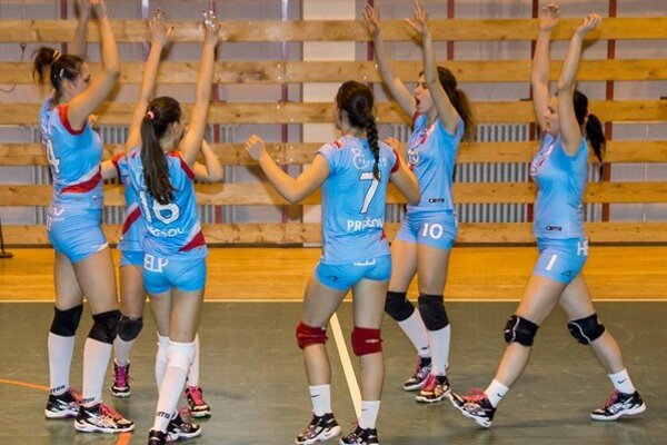 Radosť. V uplynulých zápasoch ju zažili volejbalistky Prešova.