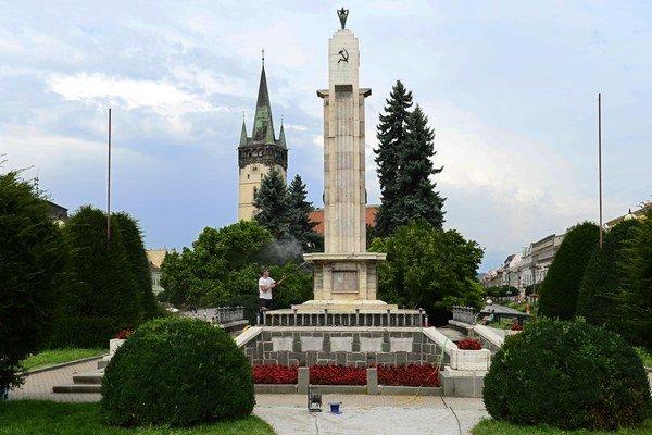 Pamätník osloboditeľov. V júli ho dalo mesto obnoviť.