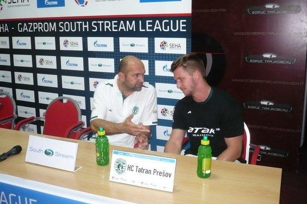Peter Dávid. Tréner Tatrana, na snímke vľavo, sa musel  v Záhrebe zaobísť aj bez Furlana.