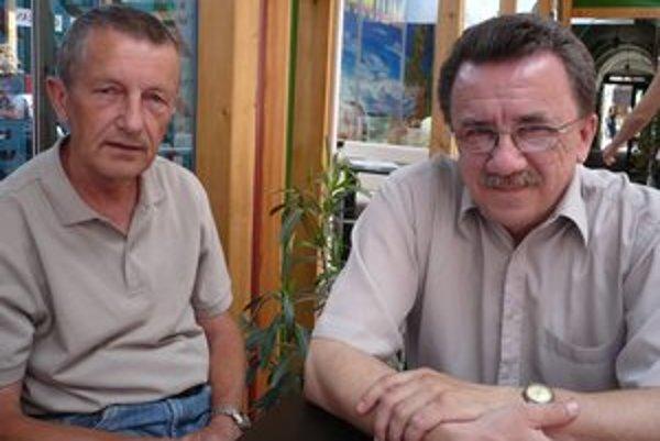 P. Béreš (vpravo) a M. Škopár. Návratu medzi elitu veria.