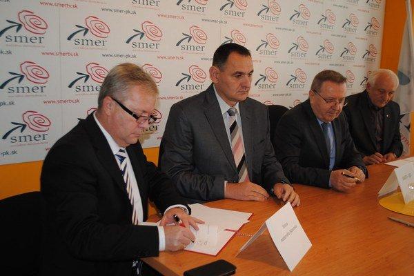 Zľava M. Marečák, P. Chudík, S. Kubánek a M. Mňahončák.