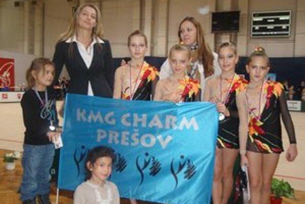 Moderným gymnastkám z Prešova sa v Bratislave darilo.