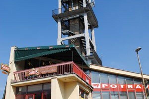 Vodárenská veža. Vrchná časť veže by mala slúžiť ako vyhliadka.