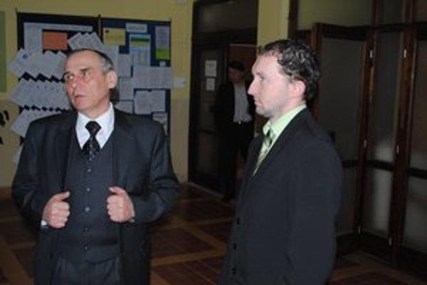 Nezhodli sa. M. Drab (vľavo) a Š. Krochmaľ.