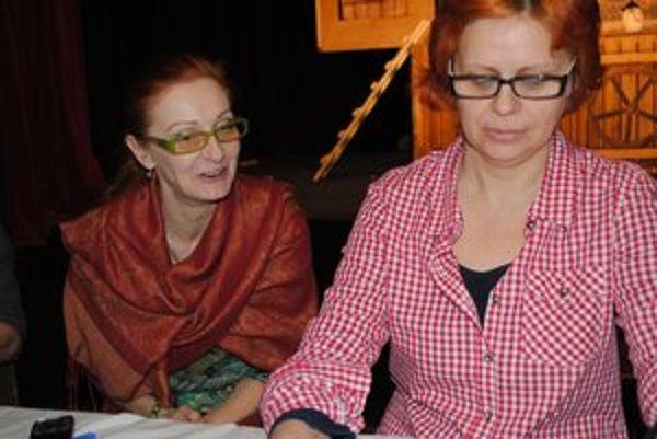 V sídle Babadla. Jana Kašická (vľavo) a Júlia Labudová.