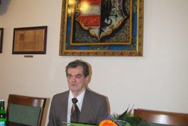 Andrej Gaj. Jeho prácu ocenil primátor mesta.