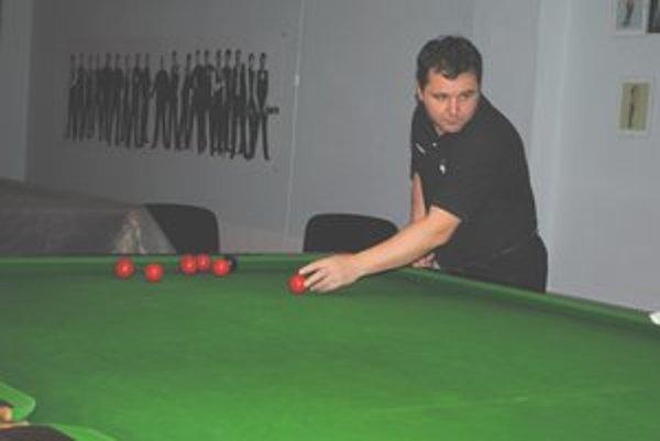Miroslav Hrubčo. Snooker sa stal jeho živlom.