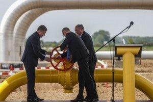 Vo Veľkých Kapušanoch spustili reverzný tok plynu.