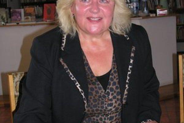 Marta Skalková. Knižnice podľa nej plnia aj sociálnu funkciu.