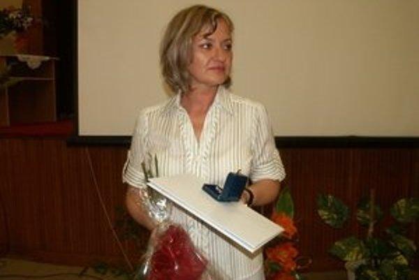 Monika Smolnická. Ocenenie patrí podľa nej aj jej kolegyniam.