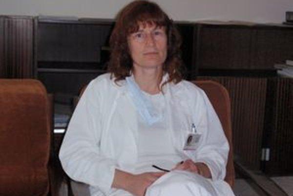 Nataša Špiláková. Primárka infekčného oddelenia vo FNsP J. A. Reimana v Prešove.