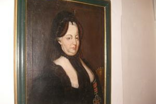 Mária Terézia. Jedna z podobizní.