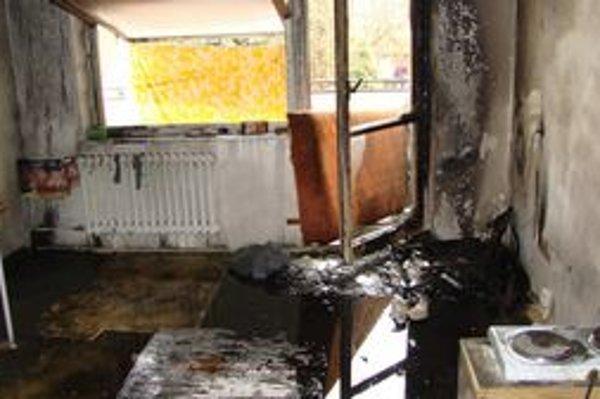 Vyhorený byt. Stačí nepozornosť alebo porucha spotrebičov a plamene všetko zničia.