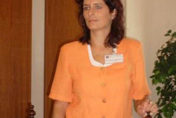 Adriana Compeľová. Predstavila pripravené aktivity.