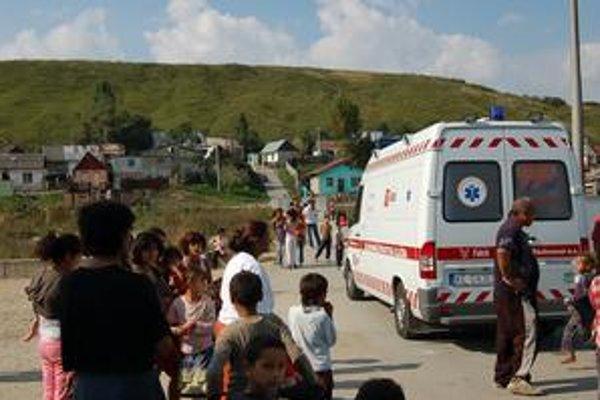 Osada v Pečovskej Novej Vsi. Záchranárov sem privolali po tráviacich ťažkostiach šiestich ľudí po požití polievky z čerstvo nazbieraných húb.